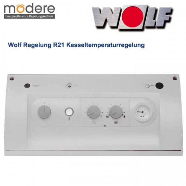 Wolf Regelung R21 für Brenner 2-stufig oder modulierend, weiß