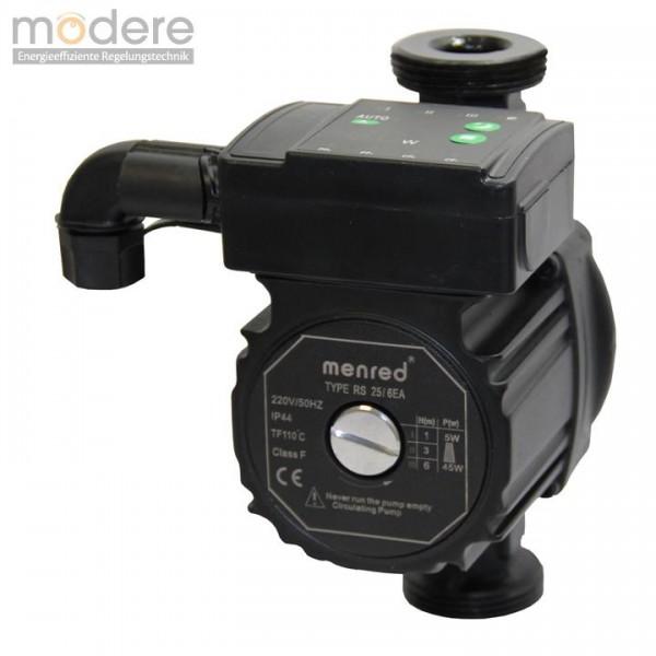 Menred hocheffiziente Umwälzpumpe 180mm RS 25/6 EA Energiesparpumpe Hocheffizienzpumpe