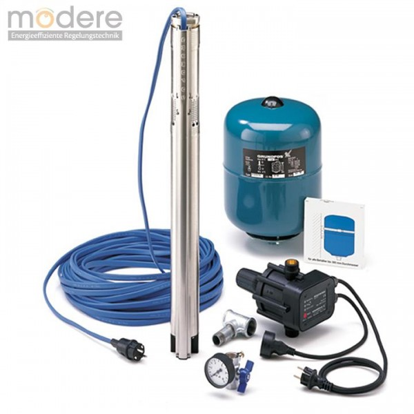 Grundfos Wasserversorgungspaket SQ 3-40  mit 30 m Unterwasserkabel 96160908