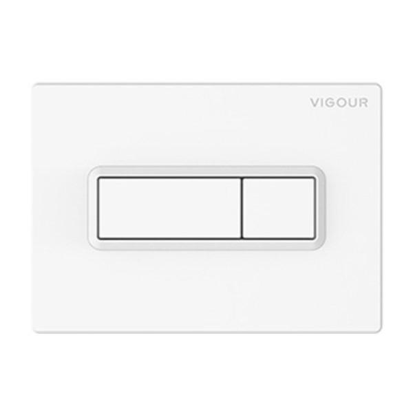 Vigour Betätigungsplatte TEES in Weiss für 2- Mengen-Spültechnik VIGTEESN
