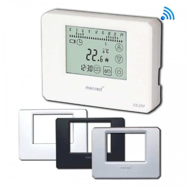 Menred E8.2 digitaler Funk-Raumthermostat Aufputz 433 MHz in verschiedenen Farbtönen
