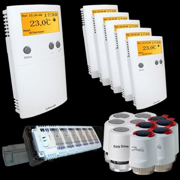 Salus Fußbodenheizung Steuerung Set 24 Volt inkl. ERT50 112502, KL06 132120 und Stellantriebe