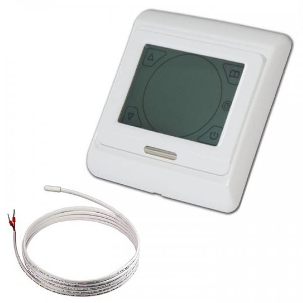 Menred digitaler Touchscreen Raumthermostat E91.716 ohne Herstellerlogo inkl. Bodenfühler