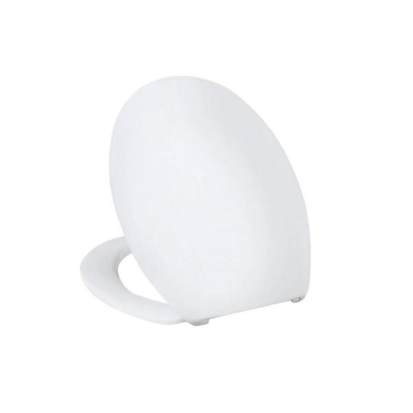Vigour clivia WC Sitz Toilettensitz Weiß Edelstahlscharniere Thermoplast