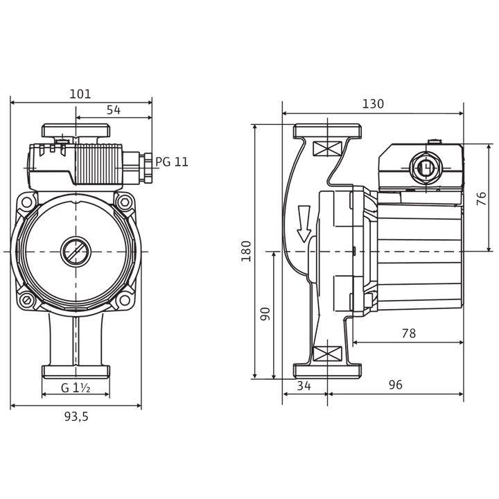 wilo star z 25 2 zirkulationspumpe 180 mm 4029062 wilo pumpen modere energieeffiziente. Black Bedroom Furniture Sets. Home Design Ideas